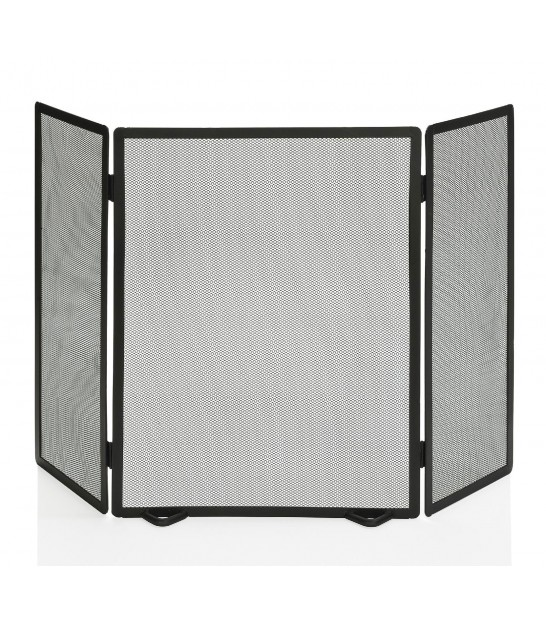 Fireplace Screen Black Metal